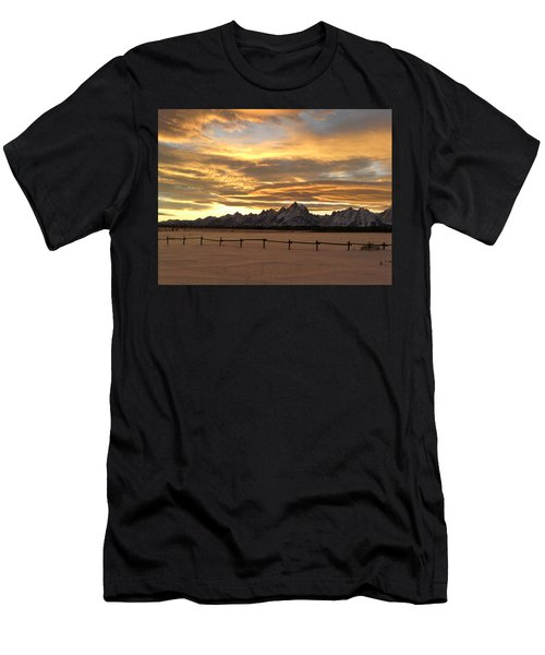 Grand Tetons In January Glory Men's T-Shirt (Athletic Fit)