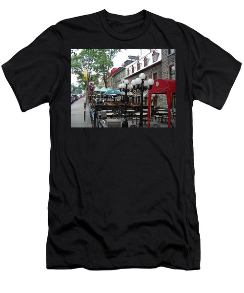 Men's T-Shirt (Athletic Fit) featuring the photograph Grande Allee Est by John Schneider