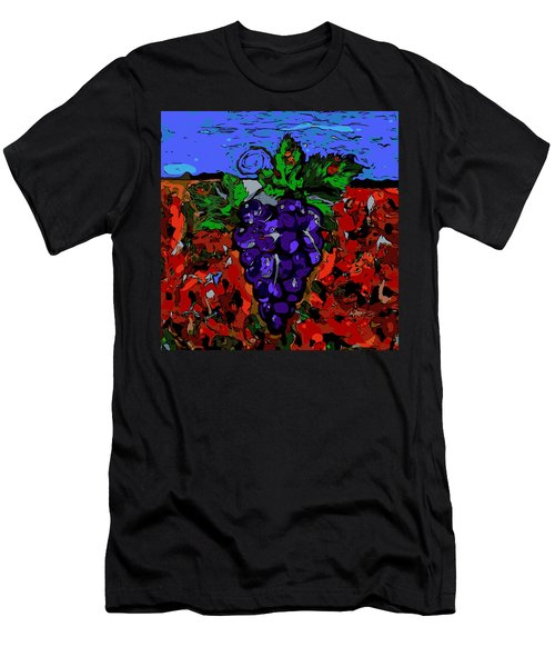 Grape Jazz Digital Men's T-Shirt (Athletic Fit)