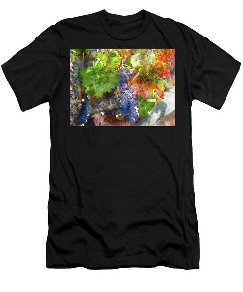 Grapes On The Vine In The Autumn Season Men's T-Shirt (Athletic Fit)