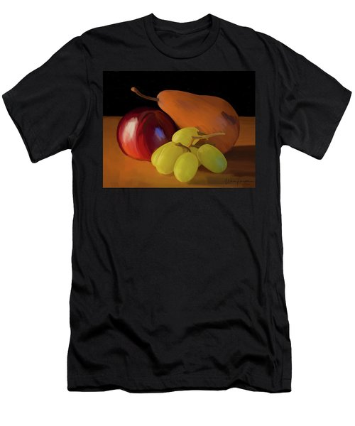 Grapes Plum And Pear 01 Men's T-Shirt (Slim Fit) by Wally Hampton
