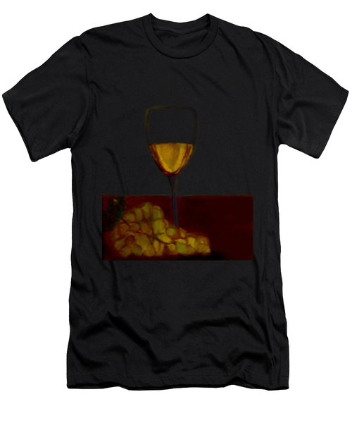 Grapes With Wine Men's T-Shirt (Athletic Fit)