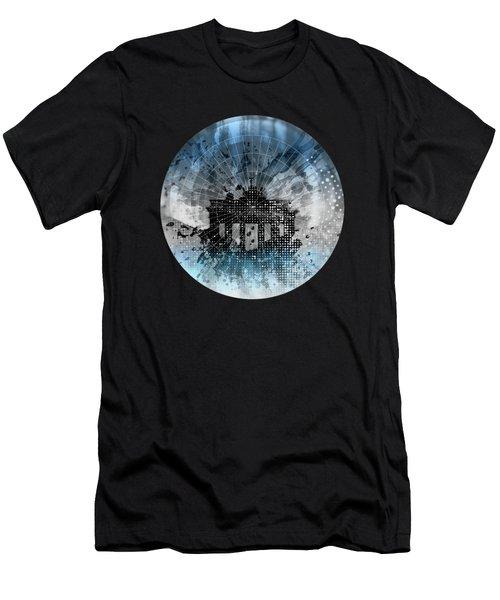 Graphic Art Berlin Brandenburg Gate Men's T-Shirt (Athletic Fit)