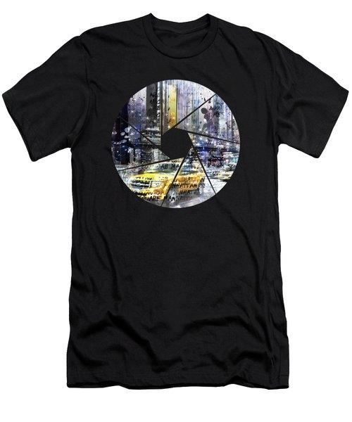 Graphic Art New York City Men's T-Shirt (Athletic Fit)
