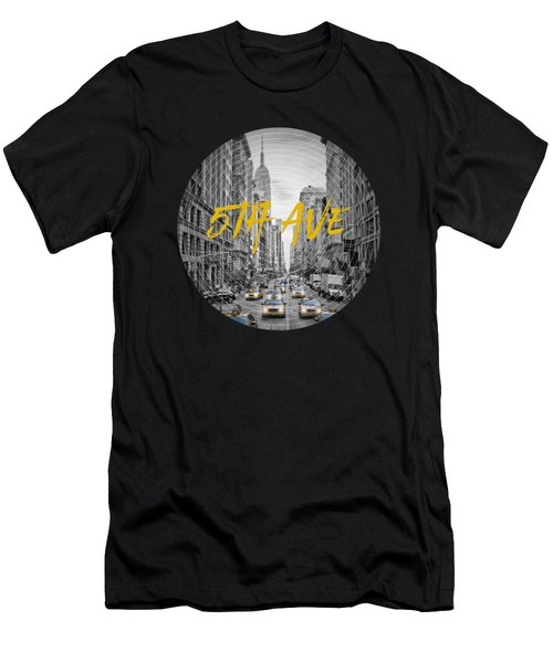 Graphic Art Nyc 5th Avenue Men's T-Shirt (Athletic Fit)