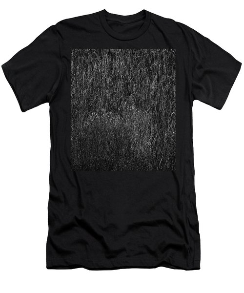 Grass Black And White Men's T-Shirt (Slim Fit) by Glenn Gemmell