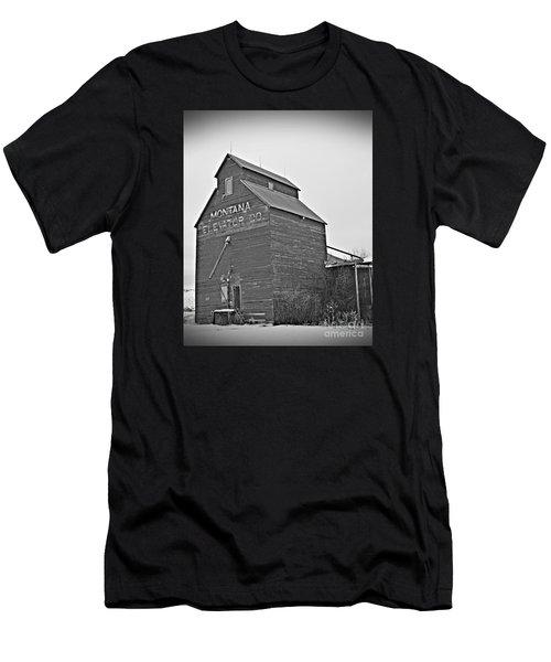 Grass Range Granary Bw Men's T-Shirt (Athletic Fit)