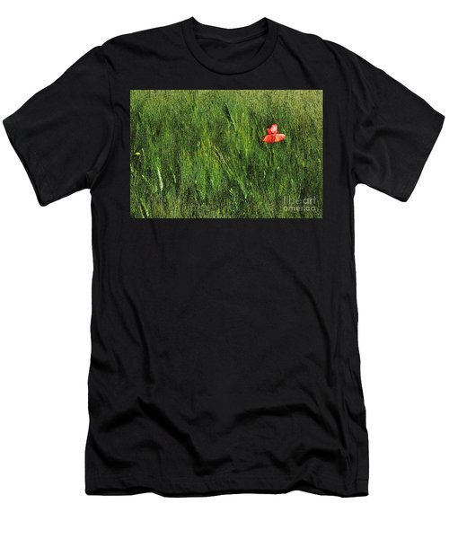 Grassland And Red Poppy Flower 2 Men's T-Shirt (Athletic Fit)