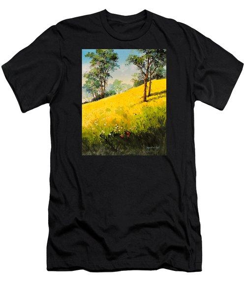 Grassy Hillside II Men's T-Shirt (Athletic Fit)