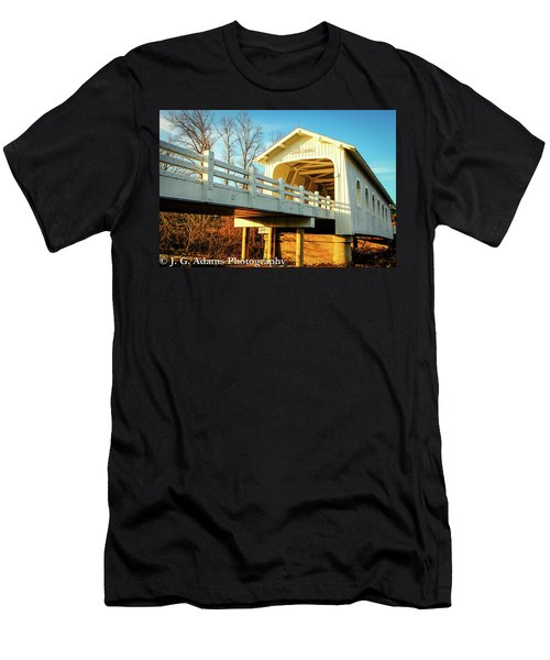 Grave Creek Covered Bridge Men's T-Shirt (Athletic Fit)