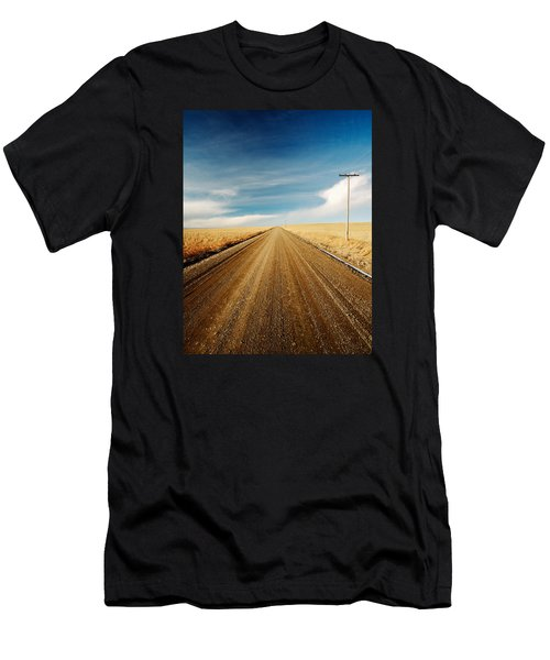 Men's T-Shirt (Athletic Fit) featuring the photograph Gravel Lines by Todd Klassy