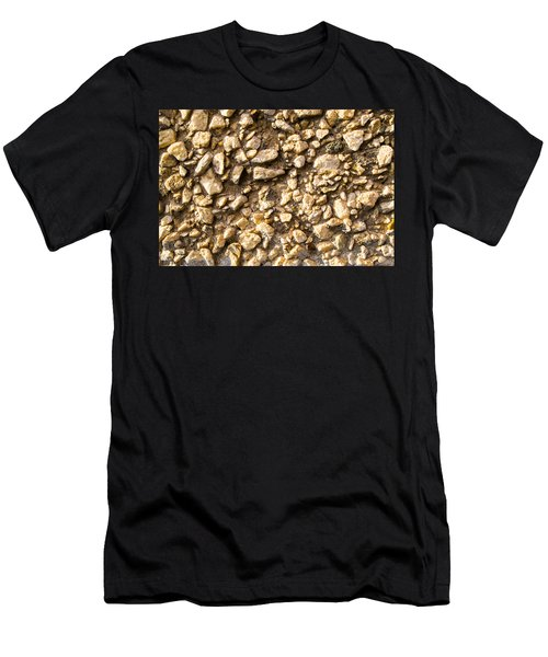 Gravel Stones On A Wall Men's T-Shirt (Athletic Fit)