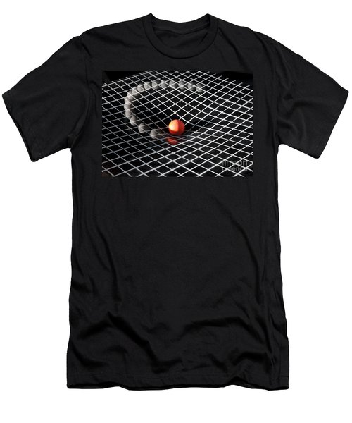 Gravity Simulation Men's T-Shirt (Slim Fit) by Ted Kinsman