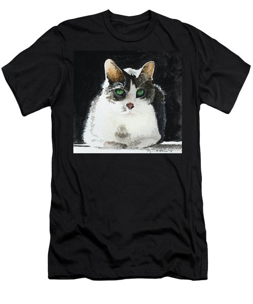 Gray Cat Men's T-Shirt (Athletic Fit)