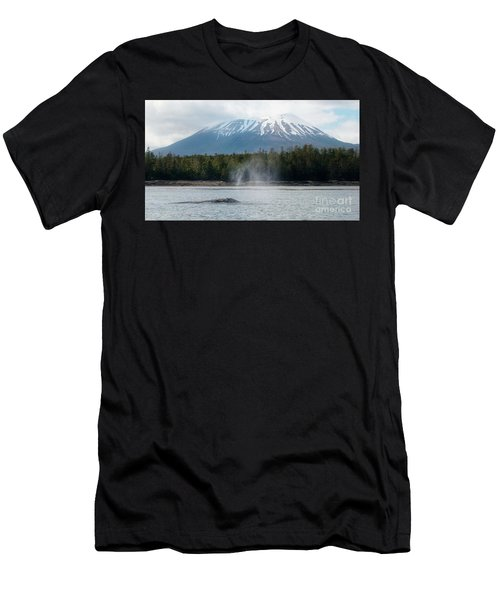Gray Whale, Mount Edgecumbe Sitka Alaska Men's T-Shirt (Athletic Fit)