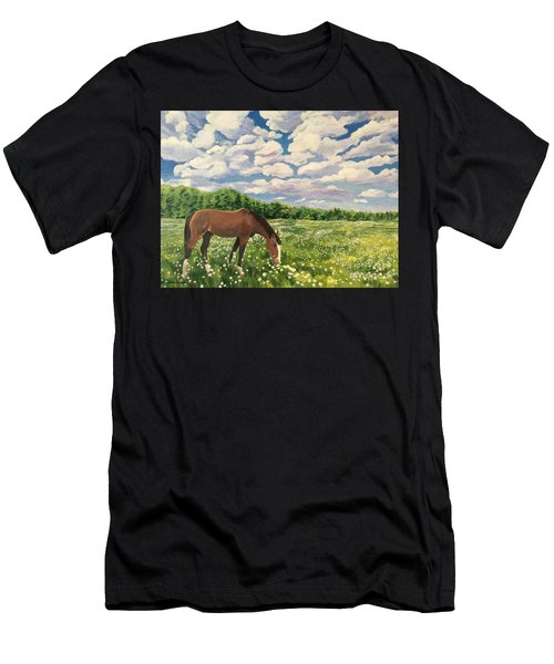 Grazing Among The Daisies Men's T-Shirt (Athletic Fit)