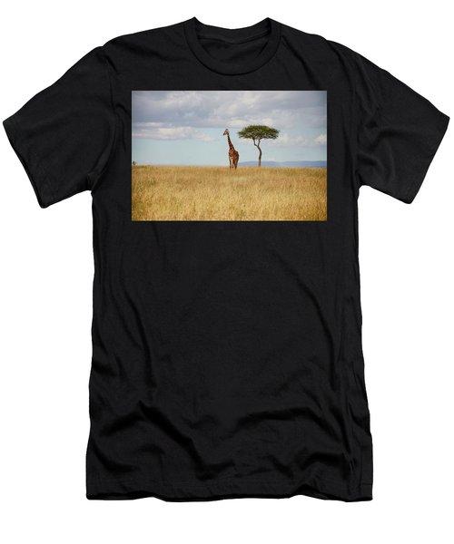 Grazing Giraffe Men's T-Shirt (Athletic Fit)
