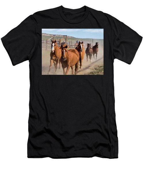 Great American Horse Drive - Coming Into The Corrals Men's T-Shirt (Athletic Fit)