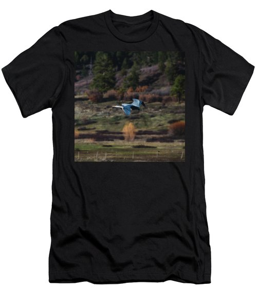 Great Blue Heron In Flight II Men's T-Shirt (Athletic Fit)