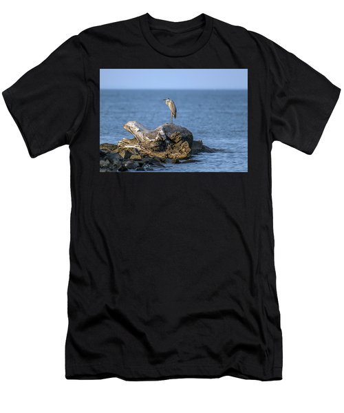 Great Blue Heron On Chesapeake Bay Men's T-Shirt (Athletic Fit)