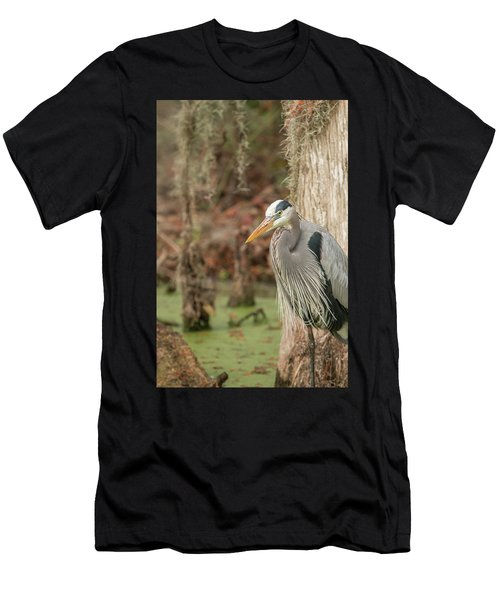 Great Blue Heron On Guard Men's T-Shirt (Athletic Fit)
