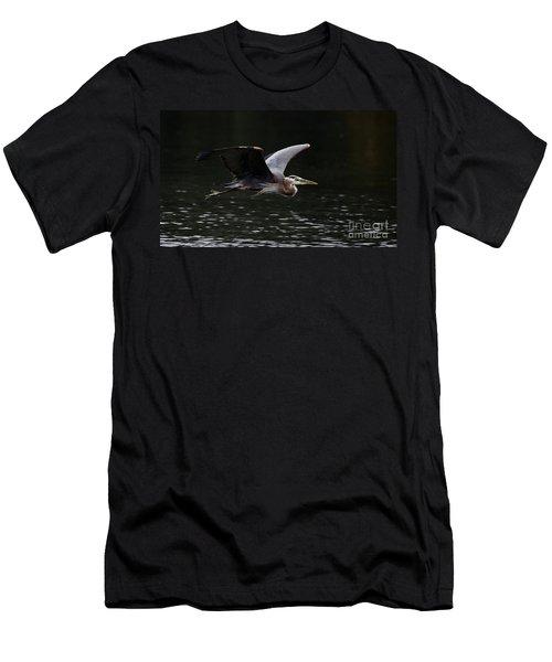 Graceful Great Blue Heron  Men's T-Shirt (Athletic Fit)