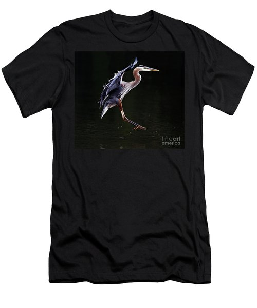 Great Blue Heron On The Wing Men's T-Shirt (Athletic Fit)