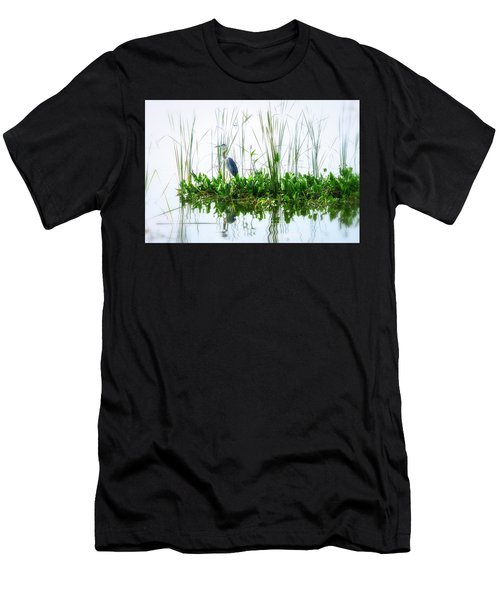 Great Blue On Green Island Men's T-Shirt (Athletic Fit)