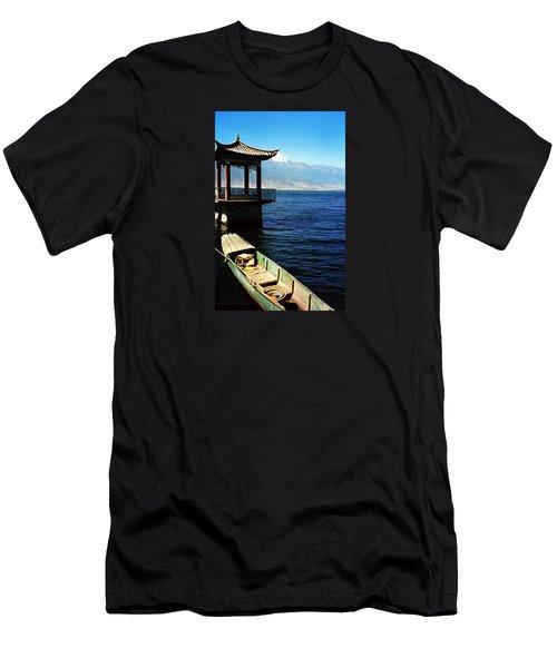 Great Blue Sea Men's T-Shirt (Athletic Fit)