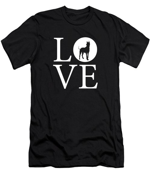Great Dane Love Men's T-Shirt (Athletic Fit)