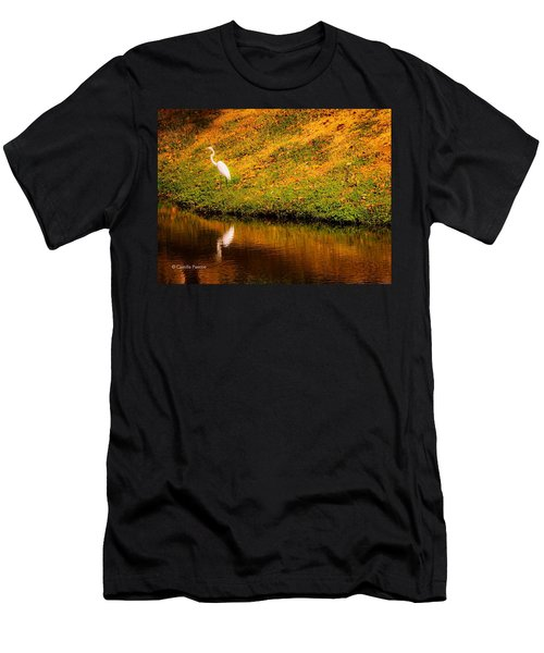 Great Egret At The Lake Men's T-Shirt (Athletic Fit)