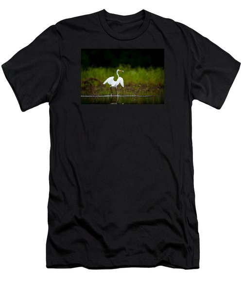 Great Egret, Great Fisherman Men's T-Shirt (Athletic Fit)