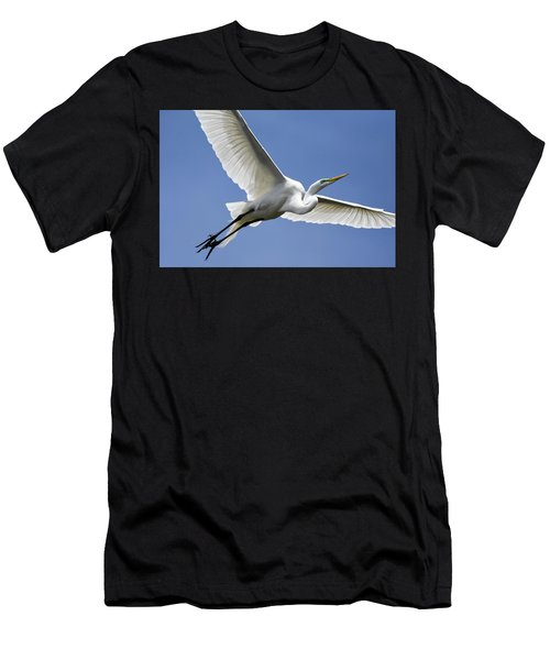 Great Egret Soaring Men's T-Shirt (Athletic Fit)