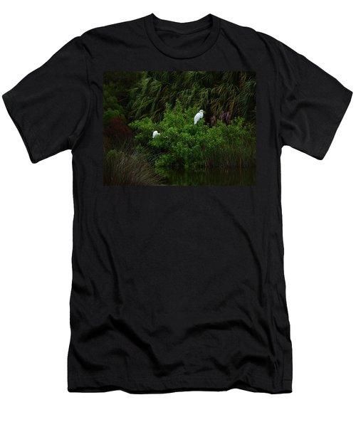 Great Egrets Men's T-Shirt (Athletic Fit)