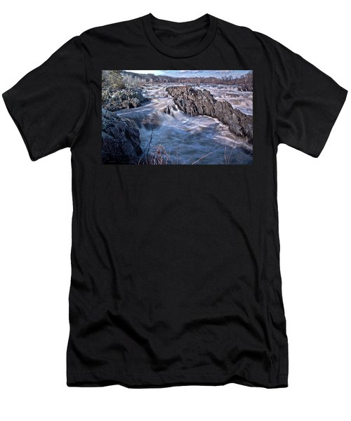 Men's T-Shirt (Slim Fit) featuring the photograph Great Falls Virginia by Suzanne Stout