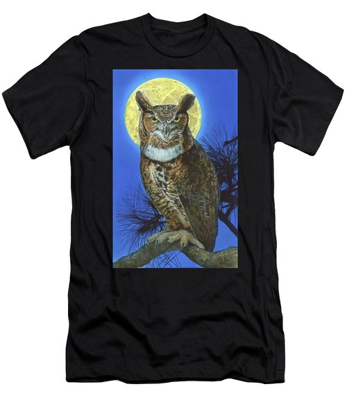 Great Horned Owl 2 Men's T-Shirt (Athletic Fit)