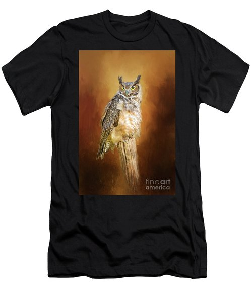 Great Horned Owl In Autumn Men's T-Shirt (Athletic Fit)