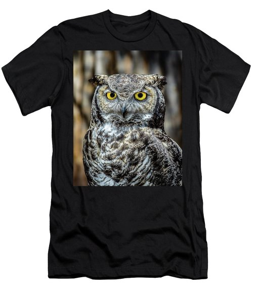 Men's T-Shirt (Slim Fit) featuring the photograph Whooo Me ? by Phil Abrams