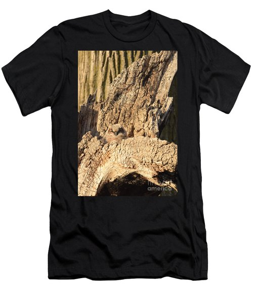 Great Horned Owlet Two Men's T-Shirt (Athletic Fit)