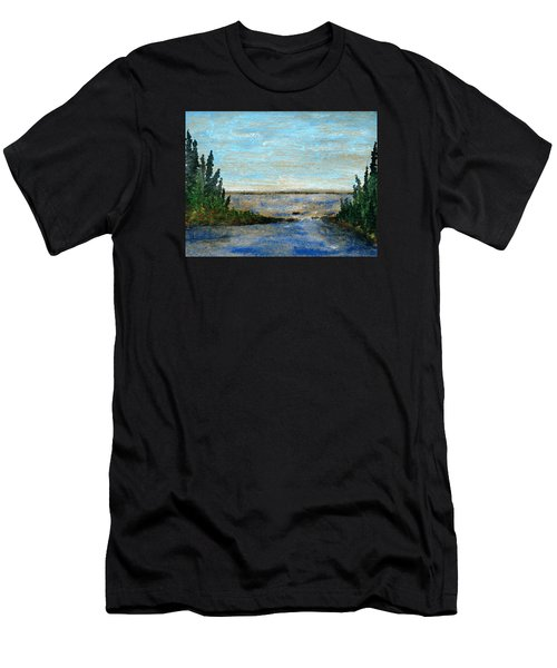 Great Lake Beyond Men's T-Shirt (Slim Fit) by R Kyllo