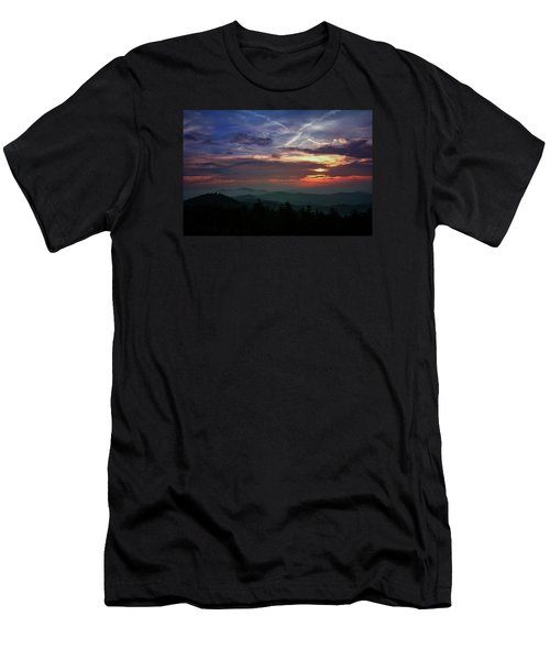 Men's T-Shirt (Slim Fit) featuring the photograph Great Smoky Sunsets by Jessica Brawley