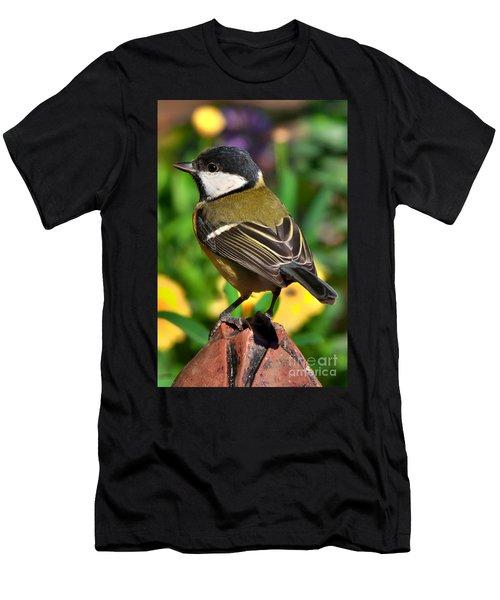 Great Tit British Bird Parus Major Men's T-Shirt (Athletic Fit)