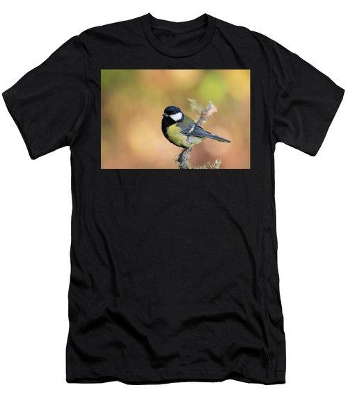 Men's T-Shirt (Athletic Fit) featuring the photograph Great Tit - Parus Major by Karen Van Der Zijden