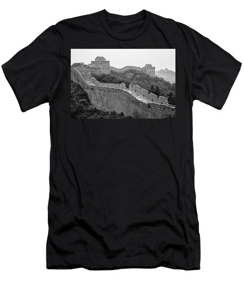 Men's T-Shirt (Athletic Fit) featuring the photograph Great Wall 8, Jinshanling, 2016 by Hitendra SINKAR
