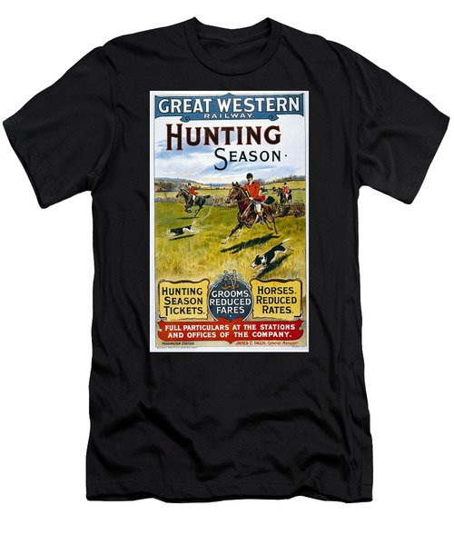 Great Western Railway - Hunting Season - Retro Travel Poster - Vintage Poster Men's T-Shirt (Athletic Fit)