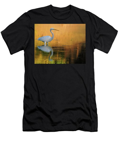 Great White On Gold Men's T-Shirt (Athletic Fit)