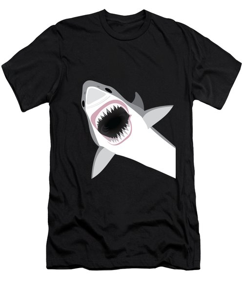 Great White Shark Men's T-Shirt (Slim Fit) by Antique Images