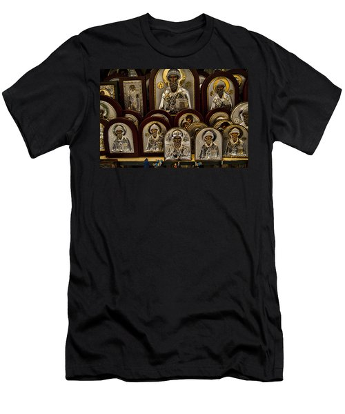 Greek Orthodox Church Icons Men's T-Shirt (Athletic Fit)