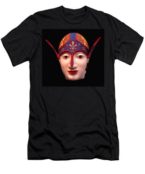 Greek Warrior Head Men's T-Shirt (Athletic Fit)