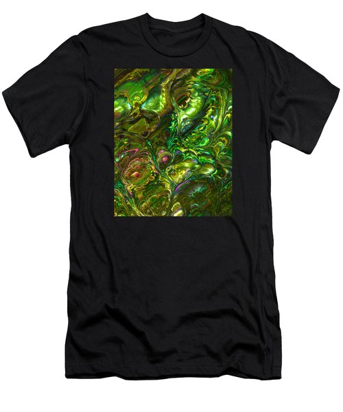 Green Abalone Abstract Men's T-Shirt (Athletic Fit)